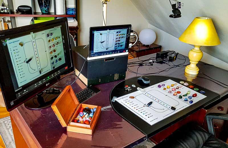 Préparation pour une lecture d'aura à distance :écran et Pierres de résonnance.